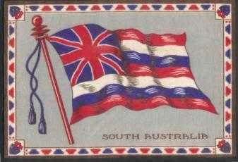 [Cigar felt flag for South Australia]
