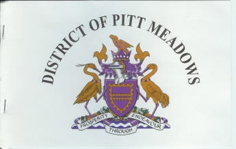 [scan of paper flag of Pitt Meadows]