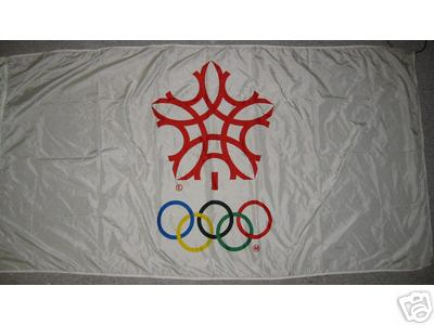 [Flag of the 15th Olympic Winter Games: Calgary 1988]