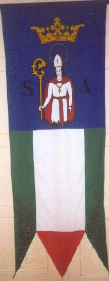 [Salka ceremonial flag]