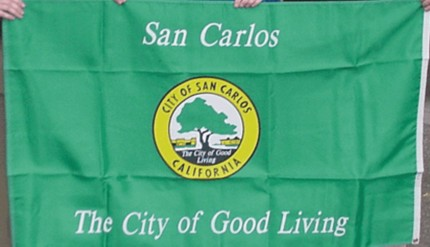 [flag of San Carlos, California]
