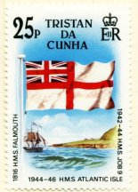 [Stamp 25 p 1985 White Ensign]